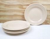 4 Vintage Homer Laughlin Restaurant Ware Bread Plates Set Best China Beige Lot USA
