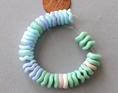 37 Pastel Mix Wavy Spacer Vintage German Beads
