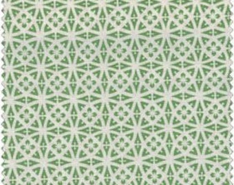 Lacy Medallion in Green and White / Cottage Romance / Maywood Studio / 2142-gw - cotton quilting sewing fabric Yardage By the Yard