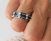 Spinning Ring,Opal Spinner Ring, Meditation Ring, spin ring, worry ring , sterling silver ring, Israeli ring, Prayer ring, Israeli Jewelry
