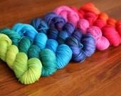 TFA Palette, BRIGHT LIGHT, Yellow Label dk Weight 100% superwash merino hand dyed yarn