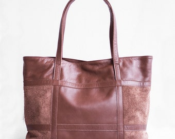 SALE, Leather Shopper in Chestnut Brown, Brown Leather Tote, Shoulder Bag, Brown Leather Bag, Leather Bag,  Leather Shopper, Brown Tote Bag