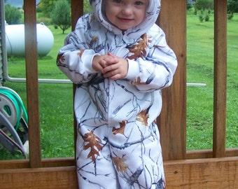 Camouflage Romper Toddler Snowfall White