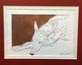 Pharaoh Hound Papercutting- Handcut Original (RESERVED for Iterra)