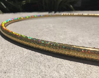 Gold Sparkle Polypro Hoop // Performance Polypro Hula Hoop // Choose Your Tubing and Diameter