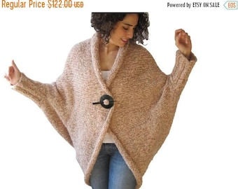 CLEARANCE 50% Chunky Pink Casual Cardigan