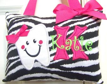 Tooth Fairy Pillow - Zebra