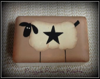 Primitive Sheep Star Bath Soap Home Decor Decoration