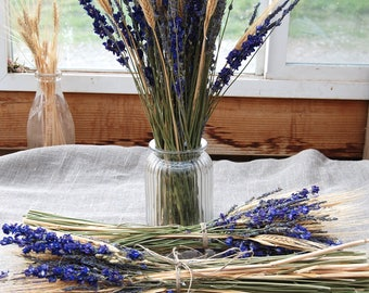 Larkspur and Lavender Table Arrangements or Centerpieces for Weddings, Summer Parties and Celebations
