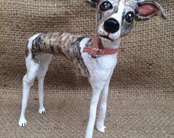 Large one of a kind custom pet folk art sculpture pet portrait pet memorial pet likeness for the dog lover