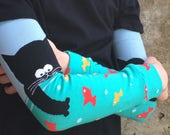 Kitty Fishing Leg or Arm Warmers for Boys and Girls - Baby, Toddler Legs - Kid, Tween Legs or Arms - Fun Cat Birthday or Baby Shower Gift