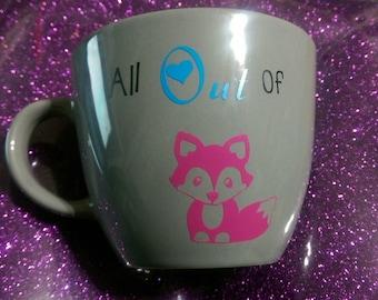 "Custom  ""All out of Fox"" 16oz Mug"