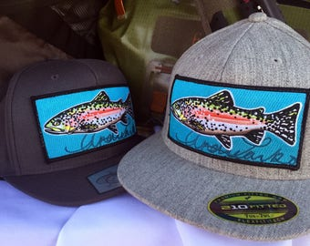 Embroidered Rainbow Trout Patch Hat