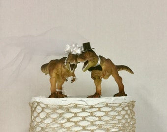 Dinosaur Cake Topper-Dino Wedding Cake Topper- NEW Animal Wedding Cake Topper-T-Rex Cake Topper-Prehistoric-Animal Cake TopperWedding Topper