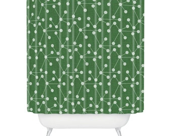 Molecules Shower Curtain