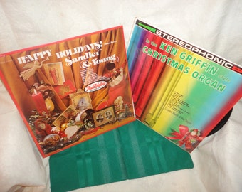 Chirstmas Vinyl LP Albums Sandler & Young and Ken Griffin Style Organ