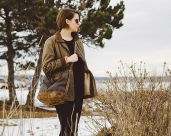 sale - 50 dollars off - wax canvas backpack - HOBO PACK - wax canvas crossbody bag - rucksack - canvas travel bag