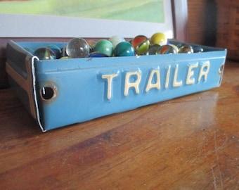 "New Jersey ""Trailer"" License Plate Box - Rustic Treasure Tray - Storage Box - Planter - FREE SHIPPING"