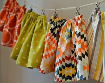 Skirt baby girl outfit toddler skirt boho skirt ready to ship sale free shipping yellow, coral baby shower gift first birthday skirt aztec