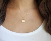 Black Friday Sale 25% off Single Mountain Necklace - Gold or Silver Plated | 14k Gold Fill or Sterling Silver Chain