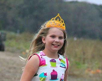 Frilly Tiara - Custom Colors, Adult or Child Crown, Free Shipping