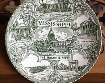 Mississippi State Souvenir Plate