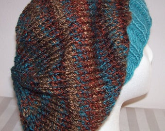 Acrylic Slouch Hat - Slouchy Knit Beanie - Knitted Slouchy - Hand Knit Hat - Dreadlock Beanie
