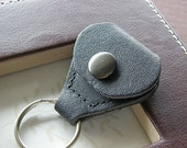 Valentines Day Sale - Leather Keychain Holder for Guitar Pick or Golf Marker - Perfect Gift for Father's Day