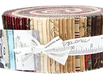 """Moda FOREVER GREEN Jelly Roll 2.5"""" Precut Fabric Quilting Cotton Strips Holly Taylor 6690JR"""
