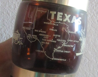 texas state glass mug