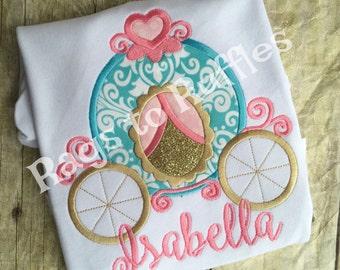 Princess Carriage Shirt- Personalized Princess Shirt - Personalized Carriage Shirt - Cinderella Inspired Shirt