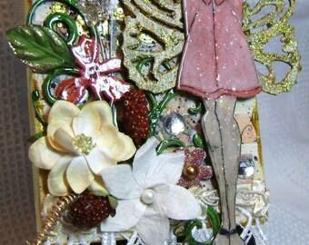 Art Canvas Mixed Media Julie Nutting Doll - Kitsnbitscraps