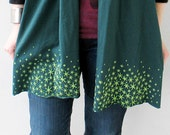 SALE Green Star Moss Scarf, gift for her, gift for teen, st patricks day spring accessory gift for women jersey scarf gift for mom, hygge