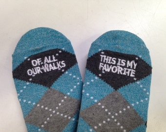 Argyle Groom Socks - selection of verses to choose from