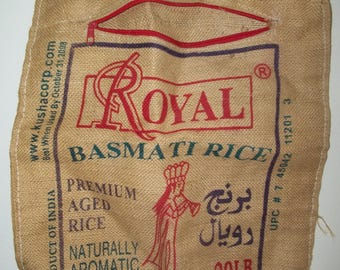 Burlap Royal Rice Bag