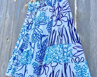 6 Tiered Gathered Girls Maxi Skirt - Choose your own fabric