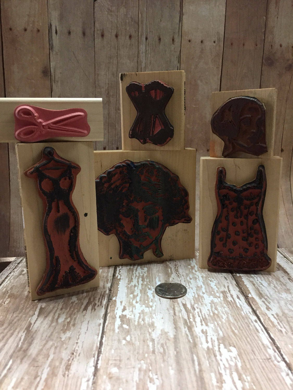 Rubber Stamps Lady In Waiting Romance Diy Craft
