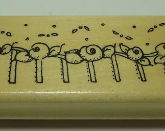 Roses In A Row Wood Mounted Rubber Stamp By Anita's Rose, Flowers, Flower, Floral