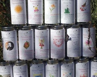 WINTER SALE.... Herbal Teas, Gift Set of 5 Herbal Teas - Your Choice, Tea in Tin, Gift Tea, Loose Tea, Caffeine Free, Sugar Free