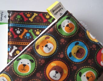 Puppy Dog Theme 2 Burp Cloths Set