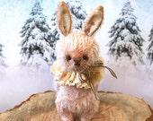 Thistle a OOAK mohair artist pink bunny