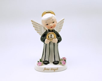 Vintage Angel Figurine Groom June Wedding Angel Napco