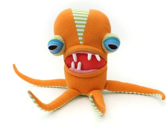 "Squid Sea Creature ""Zelda"" Plush Monster Fiber Art"