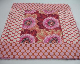 Sunflowers Minky Burp Cloth 13 x 14 READY TO SHIP