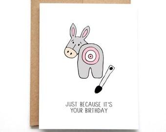 Sexy Birthday Card - Birthday Card For Him - Naughty Birthday Card