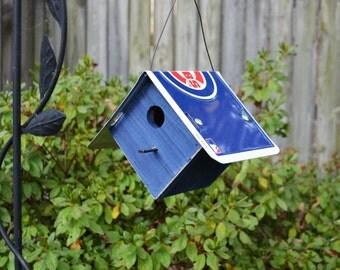 Chicago Cubs Birdhouse - Rustic Birdhouse - Chicago Cubs - Baseball