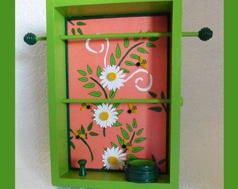 Green, Tabletop Jewelry Holder, Jewelry Organizer, Jewelry Storage, Jewelry Rack, Jewelry Display, Jewelry Hanger, Unique Gift, Mothers Day