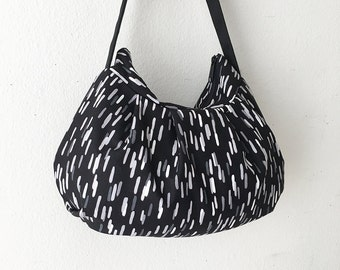 Pleated Bag // Shoulder Purse - Fragments in Charcoal