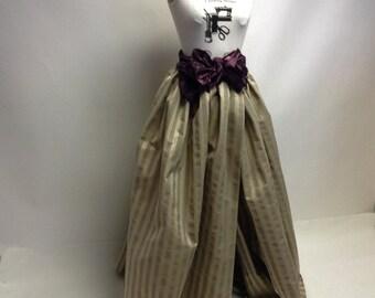 Crisp Handmade Striped Wrap Around Ball Skirt