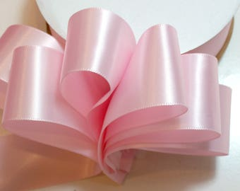 Pink Ribbon, Offray Single-Faced Powder Pink Satin Ribbon 1 1/2 inches wide x 50 yards